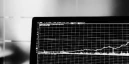 Laptop mit Graph