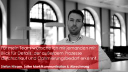 Stefan Niesen ist Leiter der Marktkommunikation und Abrechnung bei GETEC ENERGIE GmbH
