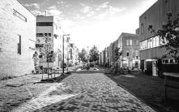 Wohnviertel mit modernen Immobilien