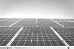 Nahaufnahme Solarpanel Dach