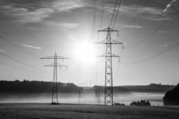 Strommasten Energieversorgungsunternehmen