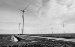 Windpark an Feldweg